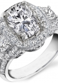 Cushion-cut engagement ring