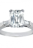 Emerald-cut engagement ring