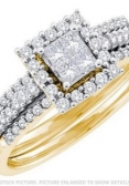Yellow-Gold-Princess-Cut-Diamond-Bridal-Engagement-Ring