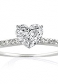 Heart-cut diamond engagement ring
