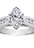 Marquise-cut diamond engagement ring