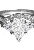 Pear-cut diamond engagement ring