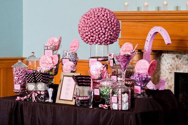 How To Set The Wedding Candy Buffet